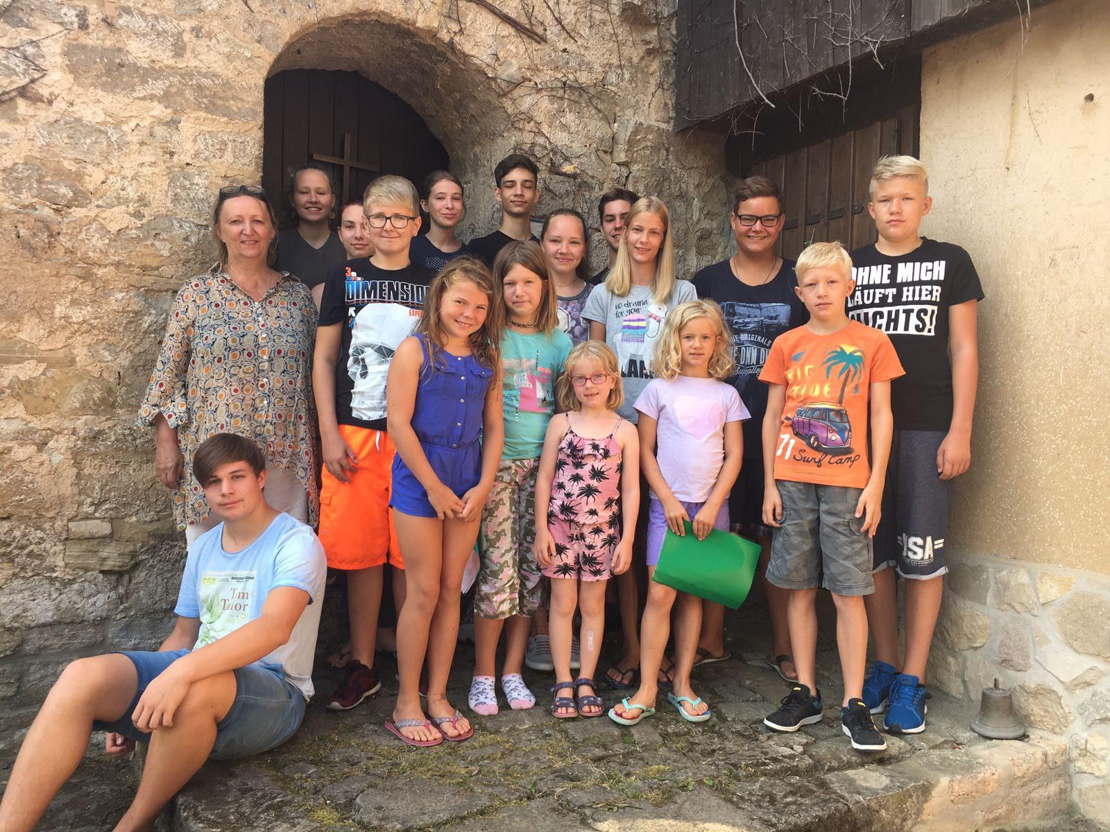 Gruppenfoto Kinderfreizeit 2018 in Niedertrebra