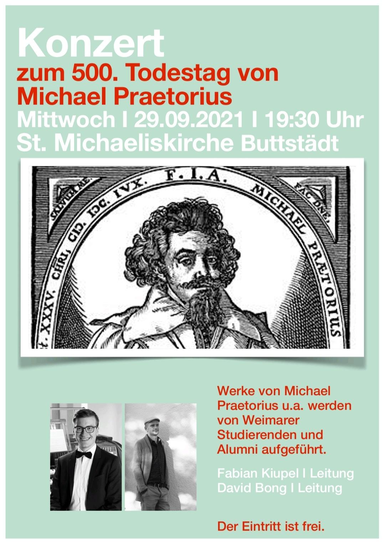 Plakat Konzert Praetorius
